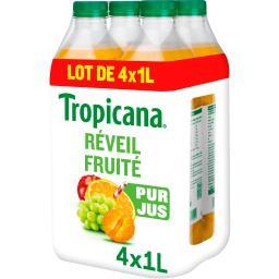 Tropicana Tropicana Pure Premium - Jus de fruits Réveil Fruité les 4 bouteilles de 1 l