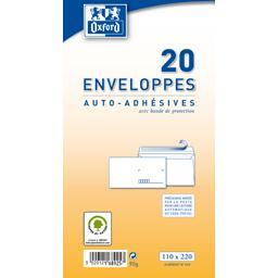 Oxford Oxford Enveloppe 110x220 auto adhesive precasee le paquet de 20