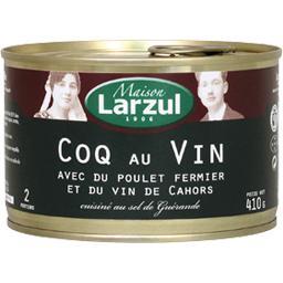 Coq cuisiné avec du poulet fermier et du vin de Cahors