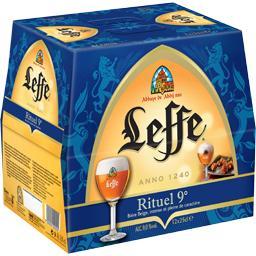 Leffe Leffe Bière blonde Rituel 9° les 12 bouteilles de 25 cl