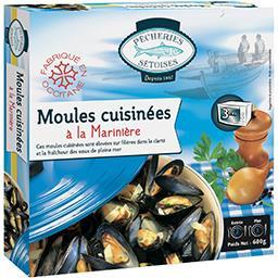 Fumeries Occitanes Pêcheries Sétoises Moules cuisinées à la marinière la barquette de 600 g