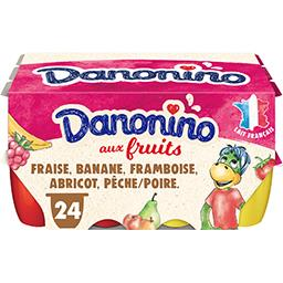 Danone Danone Danonino - Fromage blanc aux fruits les 24 pots de 50 g
