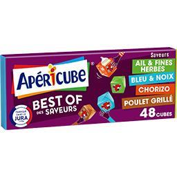 Apéricube Apéricube Spécialité fromagère Best-of des Saveurs ! la boite de 48 cubes - 250 g