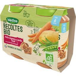Blédina Blédina Les Récoltes BIO - Petits légumes bœuf BIO, dès 6 mois les 2 pots de 200 g