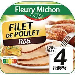 Fleury Michon Fleury Michon Filet de poulet rôti la barquette de 4 tranches - 120 g