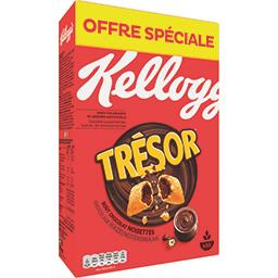 Kellogg's Kellogg's Trésor - Céréales fourrées goût chocolat noisettes la boite de 750 g