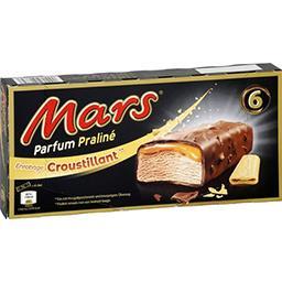 Mars Mars Barres glacées parfum praliné enrobage croustillant les 6 barres de 35,5 g