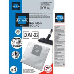 Sacs aspirateurs DOM-03 compatibles Ide Line, Solac