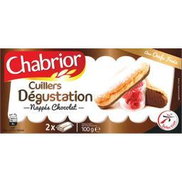Cuillers dégustation nappés chocolat