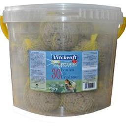 Vitakraft Vitakraft Vita Garden Special - Boules de graisse pour oiseaux le seau de 30 boules - 2700 g
