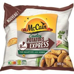 Mc Cain McCain Country Potatoes Express aux herbes le sachet de 500 g