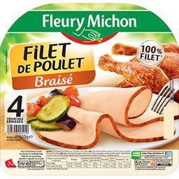 Fleury Michon Fleury Michon Filet de poulet braisé la barquette de 4 tranches - 120 g