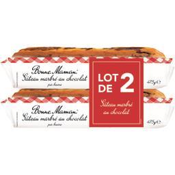 Lot de 2 paquets de Gâteau marbré au Chocolat au beurre frais 475 g Lot de 2 paquets de Gâteau marbré au Chocolat au beurre frais 475 g