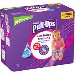 Huggies Huggies Couche culotte Pull-Ups fille, T 18-23 kg le paquet de 25
