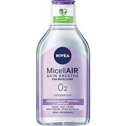 Nivea Nivea Eau MicellAir Skin Breathe démaquillant peaux sensibles le flacon de 400 ml
