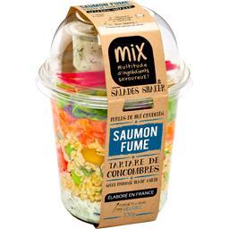 Salades Shaker - Saumon fumé tartare de concombres