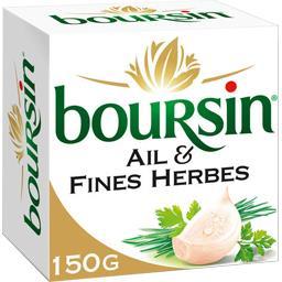 Boursin Boursin Fromage ail & fines herbes la boite de 150 g