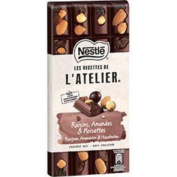 Nestlé Nestlé Grand Chocolat Les Recettes de l'Atelier - Chocolat noir raisins amandes la tablette de 170 g