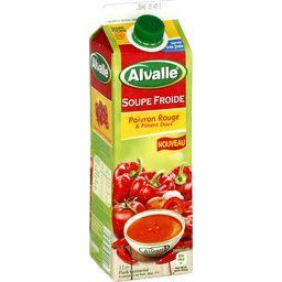 Soupe froide poivron rouge & piment doux