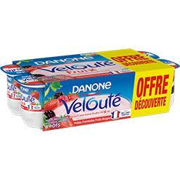 Danone Velouté - Yaourts aux fruits rouges les 8 pots de 125 g