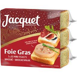 Jacquet Jacquet Mini-toasts brioché pour foie gras le paquet de 255g