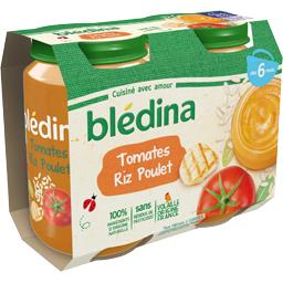 Blédina Blédina Tomates riz poulet de 6 à 36 mois les 2 pots de 200 g