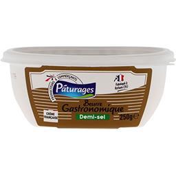 Beurre gastronomique demi-sel,PATURAGES,