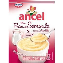 Mon flan de semoule saveur vanille