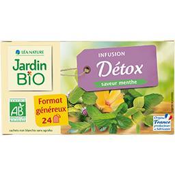 Jardin Bio Jardin bio Infusion Détox saveur menthe BIO la boîte de 24 sachets, format généreux