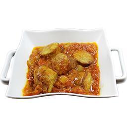 Rougail de saucisse et riz basmati cuisiné