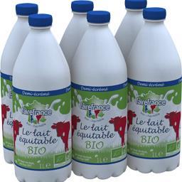 Fairefrance Lait équitable BIO la bouteille de 1 l