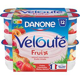 Danone Danone Velouté Fruix - Yaourt brassé aux fruits les 12 pots de 125 g