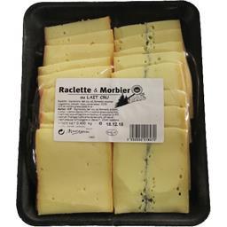 Fromage Raclette & Morbier au lait cru
