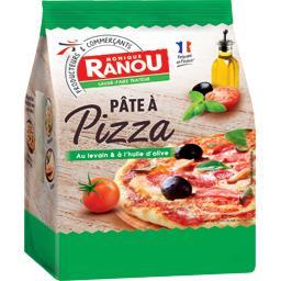 Pâte à pizza au levain et à l'huile d'olive