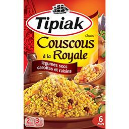 Tipiak Poêlée royale couscous et légumes secs carottes raisins