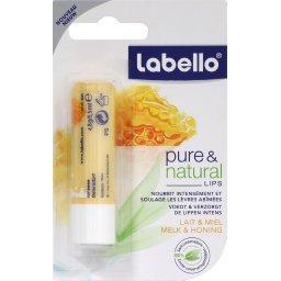Pure & NaturalSoin des lèvres au lait & miel