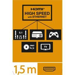 Câble HDMI haute vitesse avec Ethernet mâle/mâle coudé
