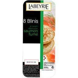 Labeyrie Labeyrie Blinis spécial saumon fumé à l'aneth ambiant la barquette de 200 g