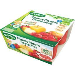 Purée de fruits pommes fraises framboises, dès 6 mois