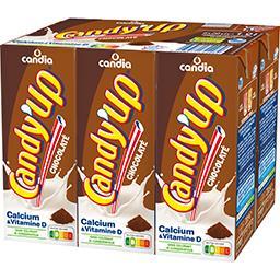 Candia Candia Candy'Up - Boisson lactée chocolatée les 6 briques de 20 cl