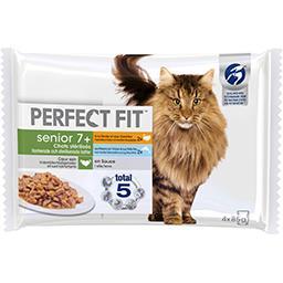 Perfect Fit Perfect fit Senior - Pâtée en sauce 2 variétés pour chats stérilisés les 4 sachets de 85g