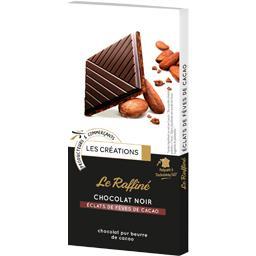 Le Raffiné chocolat noir éclats de fèves de cacao