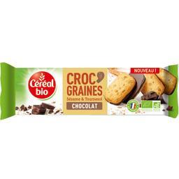 Biscuits Croc' Graines sésame & tournesol chocolat B...
