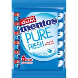 Mentos PureFresh - Chewing-gum Fresh Mint au thé vert les 6 paquets de 15,5 g