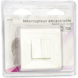 Interrupteur encastrable double va-et-vient 10A