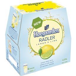 Hoegaarden Hoegaarden Bière blanche Radler Lemon & Lime les 6 bouteilles de 25 cl