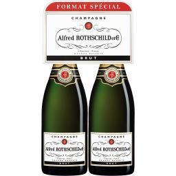 Alfred Rothschild & Cie Alfred Rothschild Champagne brut Grande Réserve le lot de 2 bouteilles de 75 cl