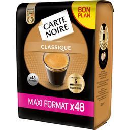 Carte Noire Dosettes de café Classique intensité 5