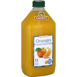 100% pur jus d'oranges pressées sans pulpe