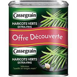 Cassegrain Cassegrain Haricots verts extra-fins les 2 boites de 220 g net égoutté - Offre Découverte